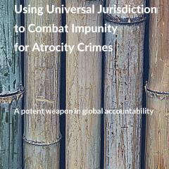 Front page of universal jurisdiction report